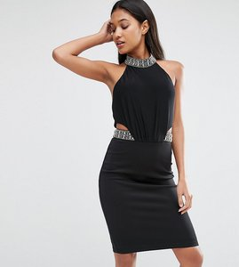 Read more about Tfnc midi bodycon dress with embellished trim - black