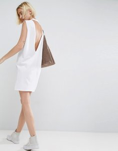 Read more about Asos sleeveless t-shirt dress with v back - white