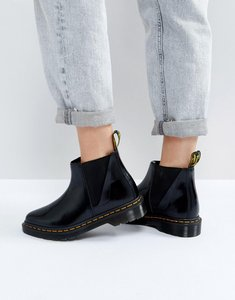Read more about Dr martens bianca black chelsea boots - black polished smoot