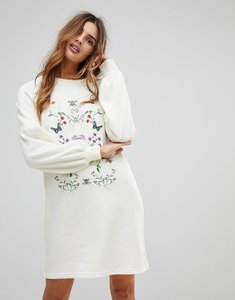 Read more about Vero moda embroidered sweater dress - winter white