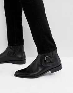Read more about House of hounds adrian leather buckle boots in black - black