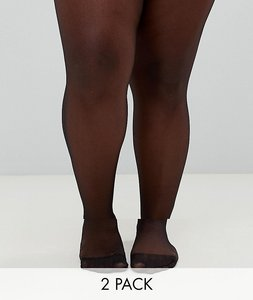 3dc618dcf38dd Read more about Asos design curve 2 pack new improved fit 15 denier tights  - black
