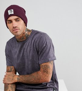 Read more about Diesel beanie with patch logo - red