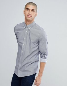 Read more about Tommy hilfiger triple square print slim fit flag logo shirt in dark blue - maritime blue