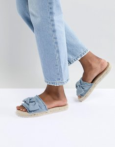 Read more about Miss selfridge bow espadrille - denim