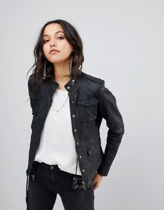 Read more about Gooseacraft leather field jacket - black