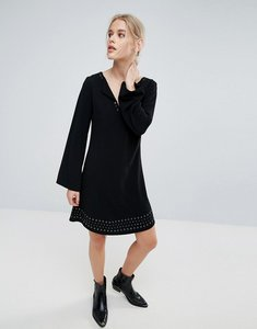 Read more about Pepe jeans janet flared long sleeve dress - black