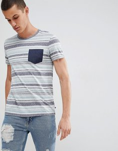 Read more about Esprit t-shirt with multi stripe and contrast pocket - 035