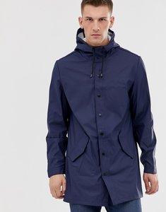 Read more about Asos design shower resistant rain coat in navy - navy