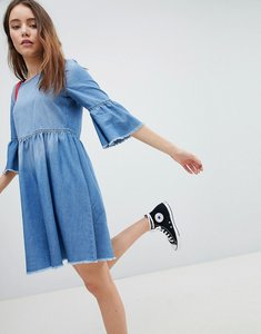 Read more about Jdy denim skater dress - medium blue denim