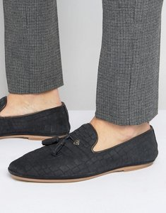 Read more about House of hounds croc suede tassel loafers - black