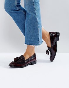 Read more about H by hudson fringe leather loafer - bordo box leather