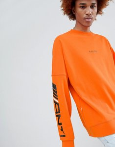Read more about Antimatter long sleeve t-shirt in orange - orange