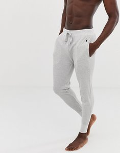Read more about Polo ralph lauren waffle knit cuffed lounge jogger with polo player logo in grey