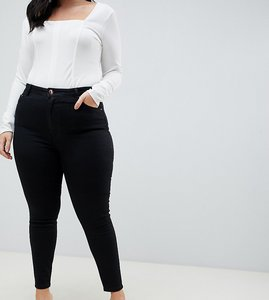 ecd56b4c54214 Read more about Asos design curve ridley high waisted skinny jeans in clean  black