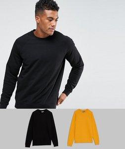 Read more about Asos sweatshirt 2 pack black yellow save - black jarlsberg