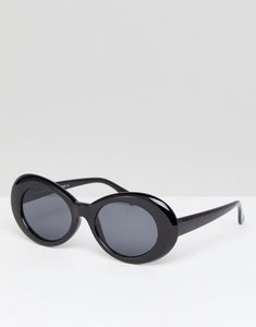 Read more about 7x oval frame chunky sunglasses - black