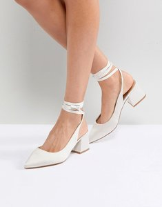 Read more about Asos sweetheart bridal pointed heels - ivory
