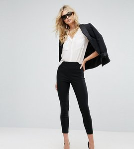 Read more about Asos tall skinny crop trousers in bengaline - black