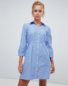 Read more about Glamorous stripe shirt dress - blue stripe cotton
