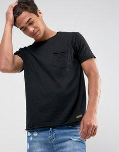 Read more about Brave soul basic raw edge t-shirt - black