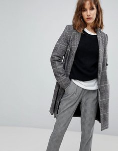 Read more about Stradivarius check tailored coat - grey