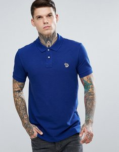Read more about Ps paul smith slim fit zebra logo polo shirt in blue - blue