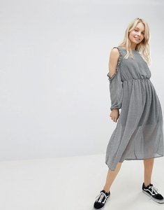 Read more about Glamorous cold shoulder dress - small black gingham