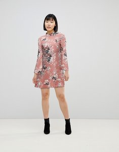 Read more about Jdy floral printed skater dress - multi