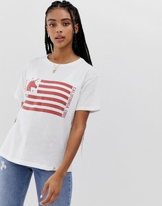 Read more about Pull bear american flag tshirt - white