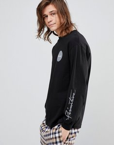 Read more about Primitive skateboarding long sleeve t-shirt with large dot logo - black