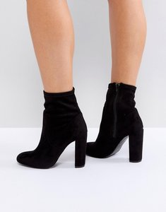 Read more about Call it spring black sock heeled ankle boots - black