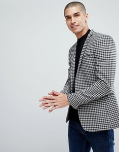 Read more about Asos super skinny blazer in grey wool mix mini check - grey