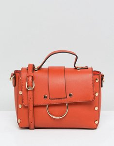 Read more about New look stud ring detail cross body bag - orange