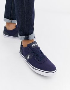 Read more about Polo ralph lauren hanford canvas trainers in blue