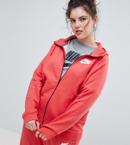 Read more about Nike plus rally full zip hoodie in red - red