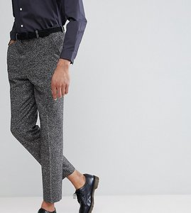 48f8f09fa44 Read more about Asos tall drop crotch tapered smart trousers in charcoal  texture - charcoal