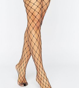Read more about Asos 2 pack oversized fishnet tights - black