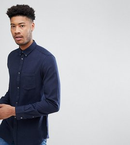 Read more about French connection tall flannel plain shirt - navy