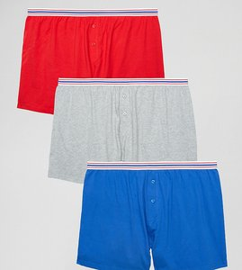 Read more about Asos plus jersey boxer with stripe waistband 3 pack - multi