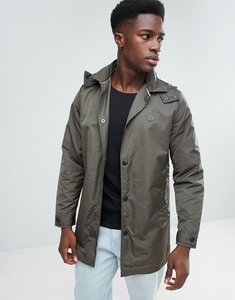 Read more about Le breve hooded trench mac - khaki