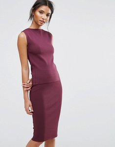Read more about Selected sleeveless knit top co-ord - mauve wine