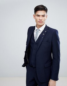 Read more about French connection birdseye weave slim fit suit jacket - navy
