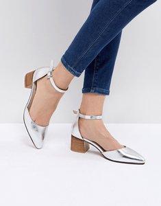 Read more about Asos taiya pointed heels - silver metallic