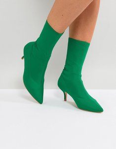 Read more about Raid bria green kitten heel sock boots - green