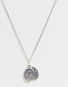 Read more about Reclaimed vintage inspired sterling silver necklace with religious style pendant exclusive at asos
