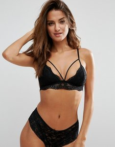 Read more about Pieces la lace triangle bra - black