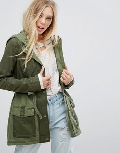 Read more about Hollister parka utility jacket - olive