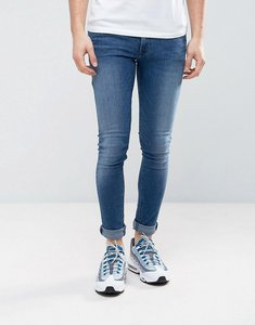 Read more about Asos extreme super skinny jeans in dark wash - mid wash blue