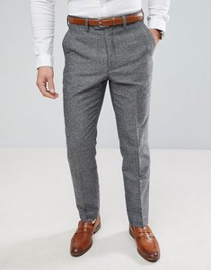 Read more about French connection semi plain donegal slim fit suit trousers - grey